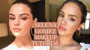 selena gomez peachy soft makeup