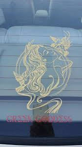 Car Decal Greek Goddess Aphrodite By Comstockkreations On Etsy Awesome Car Decals Greek Goddess Car Decals