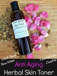homemade anti aging herbal toner