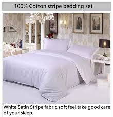 cotton stripe hotel bedding set bed