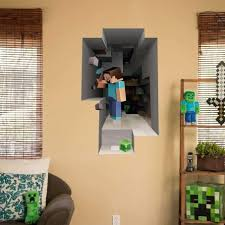 Minecraft Wall Decals Target Tags Large Prints For Walls Minecraft Vinyl Decal Pixer Mural Art Creeper Removable Online