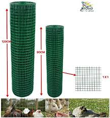 Green Pvc Coated Welded Mesh Fence Wire For Garden Fencing Guard Barrier 4 Sizes 0 9 X 45m Amazon Co Uk Diy Tools