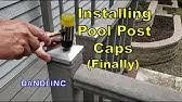 Installing Iron And Aluminum Post Caps Youtube