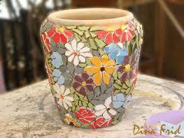 mosaic flower pots simple craft ideas