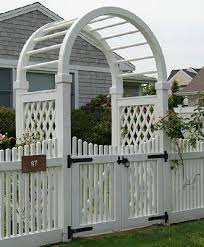 6 Ft Wide Custom Arbor And Gate Wood Solid Cellular Pvc And Vinyl Driveway Estate And Walkway Gates From Walpole Outdoors