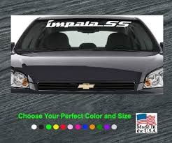 Chevy Impala Ss Windshield Banner Decal Sticker A2 Custom Sticker Shop