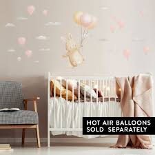 The Cutest Floating Bunny Wall Sticker For Nurseries And Kids Rooms Made Of Sundays
