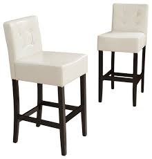 gregory ivory leather back bar stools