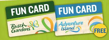 busch gardens ta fun card get