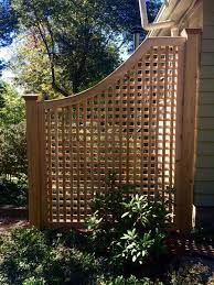 Cedar Greenwich Square Lattice Fence Panel Atlas Outdoor Privacy Fence Designs Lattice Fence Panels Fence Decor