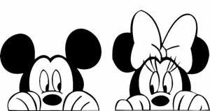 Mickey And Minnie Mouse Disney Car Vinyl Stickers High Quality Decals Ebay