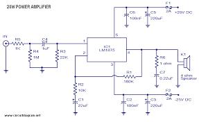 20 watt audio lifier with lm1875
