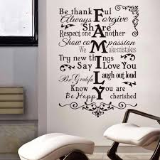 Vinyl Wall Decal Quote Huge Family Letter Wall Art Mural Home Bedroom Decor Vinyl Family Rules Inspiration Wall Sticker Ay526 Wall Stickers Aliexpress