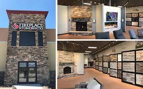 kearney showroom open fireplace stone