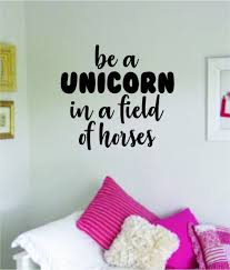 Be A Unicorn Quote Wall Decal Sticker Bedroom Room Art Vinyl Home Deco Boop Decals
