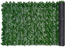 Amazon Com Lvydec Artificial Ivy Privacy Fence Screen 118 39 Artificial Hedges Fence And Faux Ivy Vine Leaf Decoration For Outdoor Garden Porch Patio Garden Outdoor