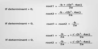 complex roots of a quadratic equation