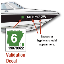 Displaying The Registration Number And Validation Decals