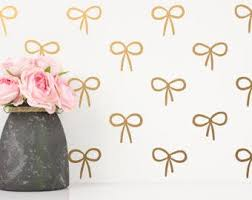 Bow Wall Decal Etsy