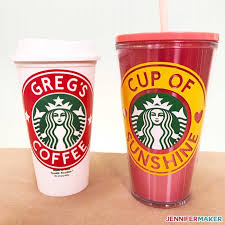 Diy Customized Starbucks Cups Personalize With A Name Jennifer Maker