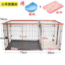 Dog Cage With Toilet Solid Wood Small Dog Medium Sized Pet Dog Fence Fence Indoor Cat Cage Kennel Villa