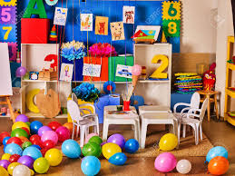 Kindergarten Interior Decoration Child Picture On Wall Preschool Stock Photo Picture And Royalty Free Image Image 72272304
