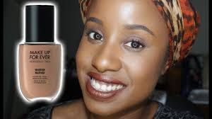 m u f e water blend foundation review