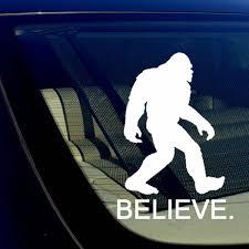 Believe Bigfoot Yeti Sasquatch Vinyl Decal Sticker 7 5 Inches Tall White For Sale Online