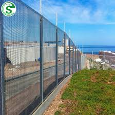 China 10ft High Security Anti Climbing Hot Dipped Galvanized 358 Welded Wire Mesh Fencing For Oil Refinery China 358 Fencing Anti Cut Anti Climb Fence