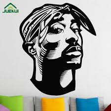 Hip Hop Tupac Wall Sticker Fashion Vinyl Wall Decals For Living Room Bedroom Decoration Adesivo De Parede Stickers Cheap Wall Decal Cheap Wall Decals From Onlinegame 11 31 Dhgate Com