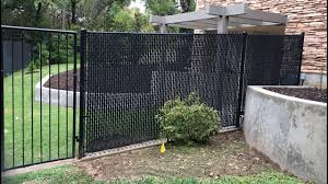 6 Black Chain Link Fence With Slats In Denton Texas Historic District Youtube