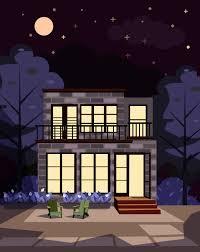 تصميم منزل جميل جدا في الليل ابداعي تحميل مباشر