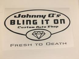 Johnny G S Bling It On Psych Decal Etsy