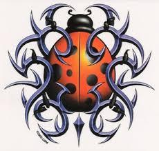 Tribal Red Ladybug Lady Bug Insect Vinyl Sticker Car Decal Artwork By Odm Ebay
