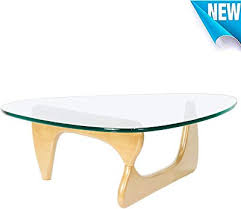 norcia triangle glass coffee table