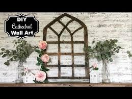 diy wood cathedral wall art farmhouse