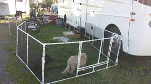 Creative Way To Make A Yard For Your Pets Or Even Your Kids Rvlife Rvpets Rv Dog Fence Rv Pet Pet Camping