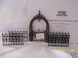Dept 56 Victorian Wrought Iron Fence Gate Set Of 5 45531882