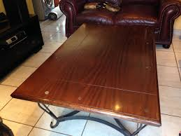 coffee table steel frame with solid
