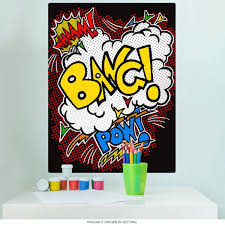Wham Bang Pow Comic Fight Sounds Wall Decal At Retro Planet