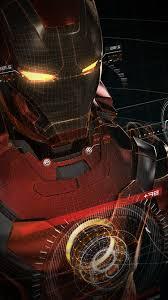 aq06 ironman 3d red game avengers art