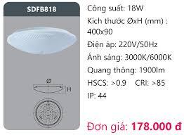 KM] Đèn Led ốp trần Duhal 18W SDFB818