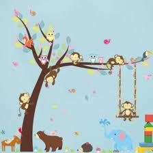 Shop Animal Cartoon Wall Decals Baby Nursery Kids Bedroom Stickers Art Decor Room Ql Online From Best Wall Stickers Murals On Jd Com Global Site Joybuy Com