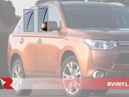 Brushed Black Rvinyl Rtrim Pillar Post Decal Trim For Mitsubishi Outlander Sport 2011 2015 Aluminum Moldings Automotive