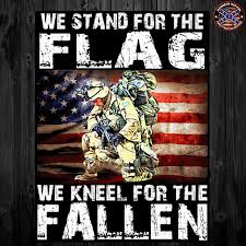 Kneel For The Fallen Decal Free Shipping Stand For The Flag