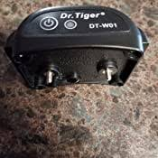 Amazon Com Dr Tiger Electric Dog Fence With Wire Collar Send Beeps And Shock Correction Black Dr Tiger Pet Supplies