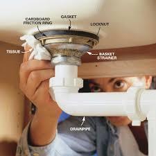 replace a kitchen sink basket strainer