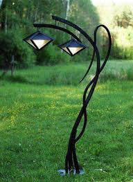 art nouveau style outdoor lamp with