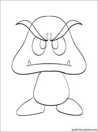 Kleurplaten Goomba Van Mario Gratis Kleurplaten