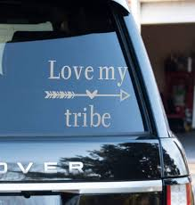 Love My Tribe Car Decal 4 1 26inches Etsy